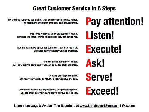 6 steps to great customer