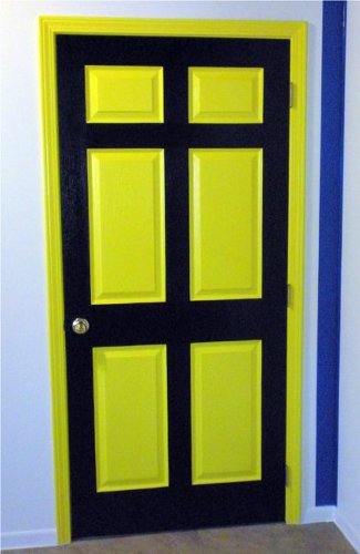 yellow and black door by suzie
