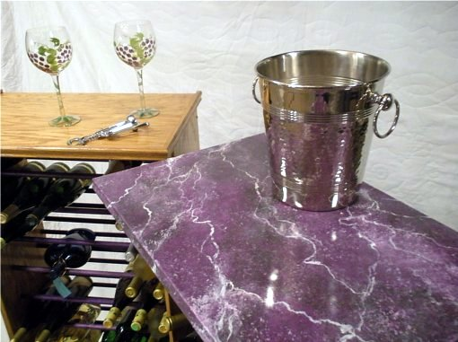 This wooden winerack top has