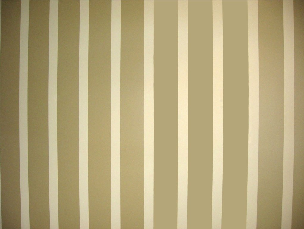 I'm a wide stripe in tan beside a smaller stripe in cream faux finish.