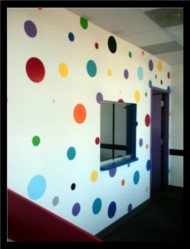 creative faux dots by Suzie Paints in a