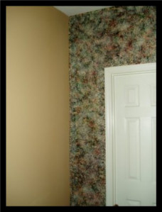 A multi-color sponge faux used as an